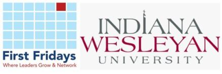 First Fridays and IWU logos together