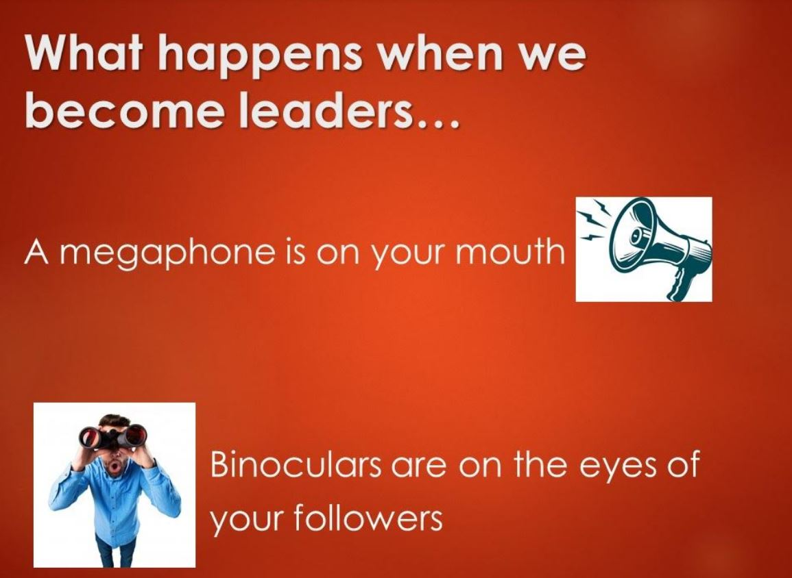 what happens when we become leaders