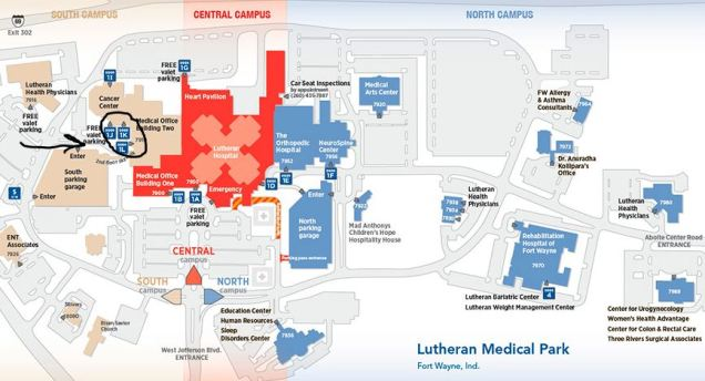 Lutheran Hospital campus map